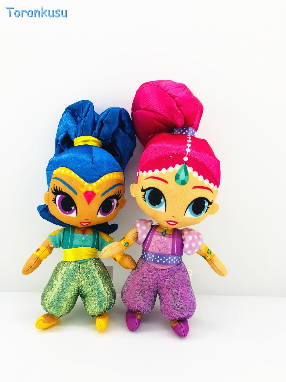 Authentic Shimmer Sister Family Plush Toys Sister Shimmer And Shine Stuffed Toys Plush Doll Christmas Gift 30cm