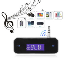 Car Wireless MP3 FM Radio Transmitter Hands Free For Mobile Phone Ipad MP3 Audio Player FM Modulator Car Kit FM Transmitters