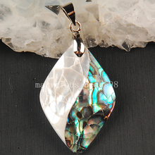 Free shipping  Fashion Jewelry New Zealand Ablone Mother of pearl Shell Art Pendant Bead  MC3592
