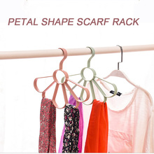 Creative Multi-Functional Petal Five-Hole Design of The Towel Rack Belt Storage Racks Hanger Shelves for Storing belts(China)