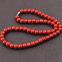 Taiwan cinnabar necklace jewelry beads 8mm Gem beads Necklace for women Health fashion jewelry collar women new year gifts  024