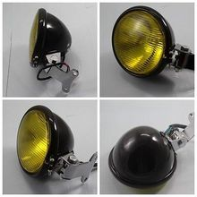 Black Aluminum Headlight Lamp For Harley Honda Yamaha Kawasaki Suzuki KTM Cafe Racer Bobber Custom Chopper Motorcycle