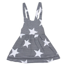 Infant Baby Kids Girls Star Summer Beach Sundress Sleevless Party Dresses
