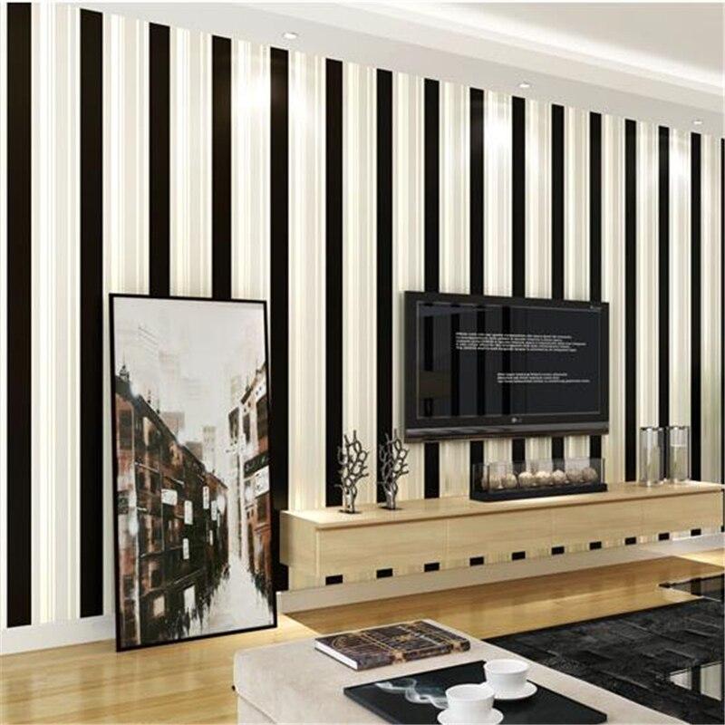 beibehang Modern Mediterranean non-wovens fabric vertical striped wallpaper living room bedroom children room boy girl wallpaper<br>