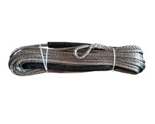 10mm x 30m grey synthetic winch line, towing rope, uhmwpe fiber rope, plasma rope for 4x4 offroad atv(China)