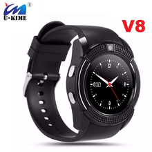 V8 Sports Round Bluetooth Smart Watch Men Anti-Lost Smartwatch Camera Full Screen Support SIM TF Card For iPhone Samsung Mi