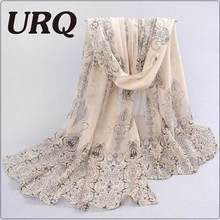 1PC Designer  l* scarves Porcelain printed soft chiffon velvet Silk scarves for Girl 60*150cm P7A16012