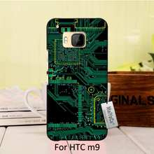 MaiYaCa Original Plastic PC Black Phone case cover For HTC One m9 case Circuit Board Design computer motherboard(China)
