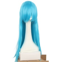 "26 Multi Colors Cosplay Wig Synthetic Long Straight Heat Resistant Fibe Scene Wigs For Daily Use Women Pink/Blue/Red 30"" HAIR SW(China)"