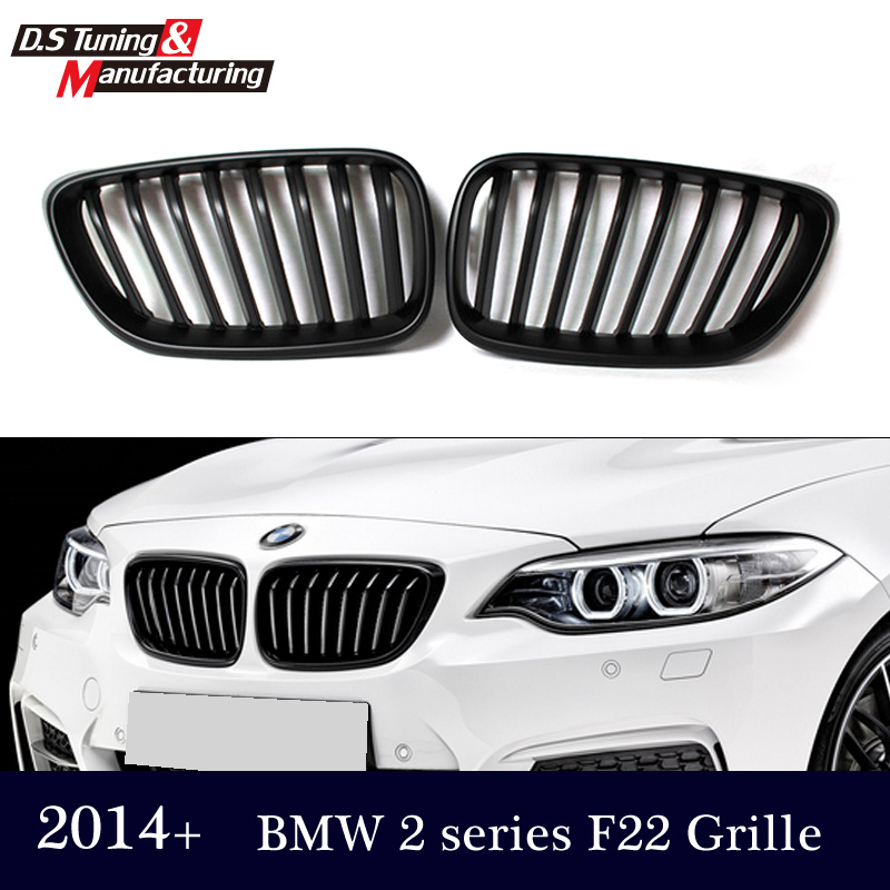Replacement F22 Racing Front Bumper Grille Grills For Bmw 2 Series F23 2014 2015 2016 M235i 218i 220i Gloss / Matte Black<br><br>Aliexpress