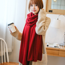 New Fashion 2016 Women Scarf Vintage Ladies Solid Color Black Red White Scarves Warp shawl female  Cotton Shawls