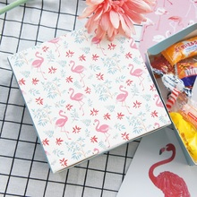 13.5*13.5*5cm 10pcs flamingo design Paper Box candy Cookie valentine gift Packaging Wedding Christmas Use(China)
