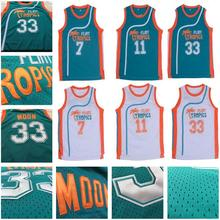 Retro Movie Semi Pro Flint Tropics Jackie Moon 33# Coffee Black 7# Ed Monix 11# Throwback jersey size extra small XS s - 4xl