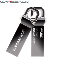 WANSENDA Waterproof USB Flash Drive Metal Hook Pen Drive 128gb 64gb 32gb 16gb 8gb 4gb Pendrive USB 2.0 Memory Stick H2testw Test