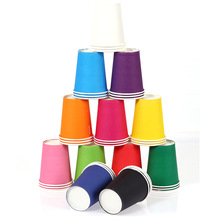 Buy 10PC DIY Handmade Color Disposable Paper Cup Children Hand Material Kid Fine Arts Creative Stuff Birthday Wedding Party Supplies for $1.55 in AliExpress store