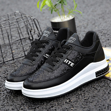 Platform sneakers women shoes breathable shoes fashion bling shoes sewing causal increase sneakers women non-slip size 35-40(China)