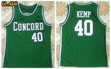 Uncle GG Cheap Shawn Kemp 40 Concord High School Minutemen Away Basketball Jersey Throwback Embroidery Retro Mens Shirt(China)