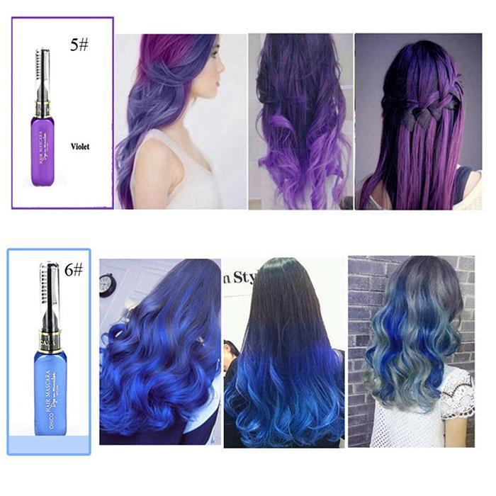 Beauty Women Hair Color Styling Hair Dye Color Chalk Temporary Non-toxic DIY Hair Cream Party Dye Pen Crayons 13