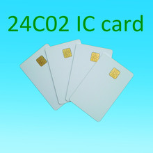 ATMEL 24C02 card 2k white contact smart card social security cards plastic card 10pcs/lot(China)