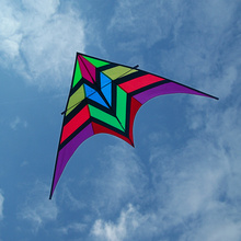spinner outdoor fun Carbon rod kite adult kite wing cheap kites kids long line fishing rainbow toy flying bird windsock triangle