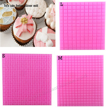 1PCS boxes lace mat chocolate cooking tools Jewellery Silicone Bakewar molds Fondant Candy Sugar Craft cooking mold DIY F0913