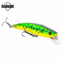 1PCS SeaKnight 2016 Minnow SK009 Hard Fishing Lure Minnow 8.5g 90mm 0.6-1.0M Steel Balls Inside 2 BKK Hooks Luminous Material