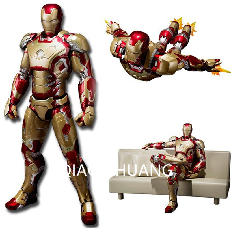 15CM The Avengers Iron Man  Ironman MK42  With Sofa  PVC Action Figure Collectible Model Toy Cartoon Fashion Packed In Box G12<br>