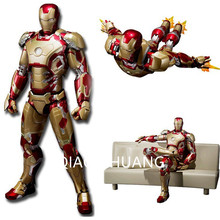 15CM The Avengers Iron Man Ironman MK42 With Sofa PVC Action Figure Collectible Model Toy Cartoon Fashion Packed In Box G12(China)