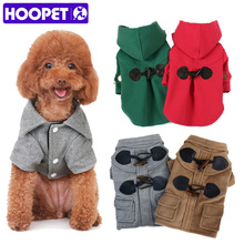 HOOPET pet clothes British style small dog Woolen cloth hoodie overcoat(China)