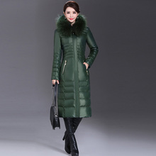 Plus Size L-5XL Winter Women Parka Brand Clothing Fashion White Duck Down Jacket Real Fur Collar Warm Thickening Long Down Coat(China)