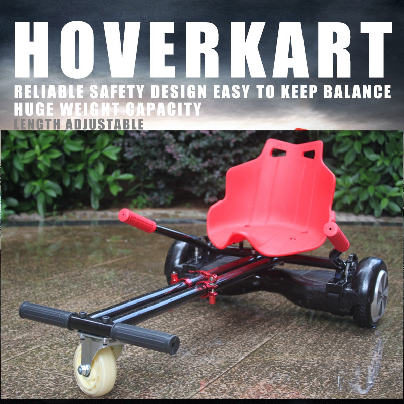 STOCK IN GERMANY! Adjustable Hoverboard Accessories Go Kart Hoverkart For Kids Adult Gift Electric Scooter Attachment Cart Seat<br><br>Aliexpress