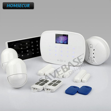 HOMSECUR App Controlled GSM SMS Autodial Home Security Fire Alarm System+Password Keypad