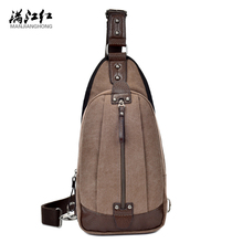 Man Military Messenger Bag Casual Out Travel Chest Bag Canvas Small Crossbody Men Shoulder Bag 1292