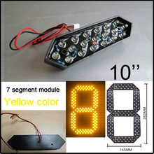 "10"" led numbers yellow color, 7 segment module, led gas price signs, number for led,Dip F5mm(China)"