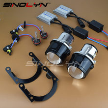 SINOLYN Universal HID Bi xenon Projector Lens Fog Lights Lenses Driving Lamp Retrofit DIY Waterproof Kit H11 3000K 5500K 6000K(China)