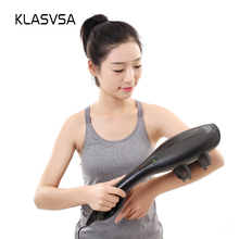 KLASVSA Electric Vibrator Shiatsu Back Neck Massager Acupressure Therapy Waist Body Handle Massage Tool Pain Relief Health Care(China)