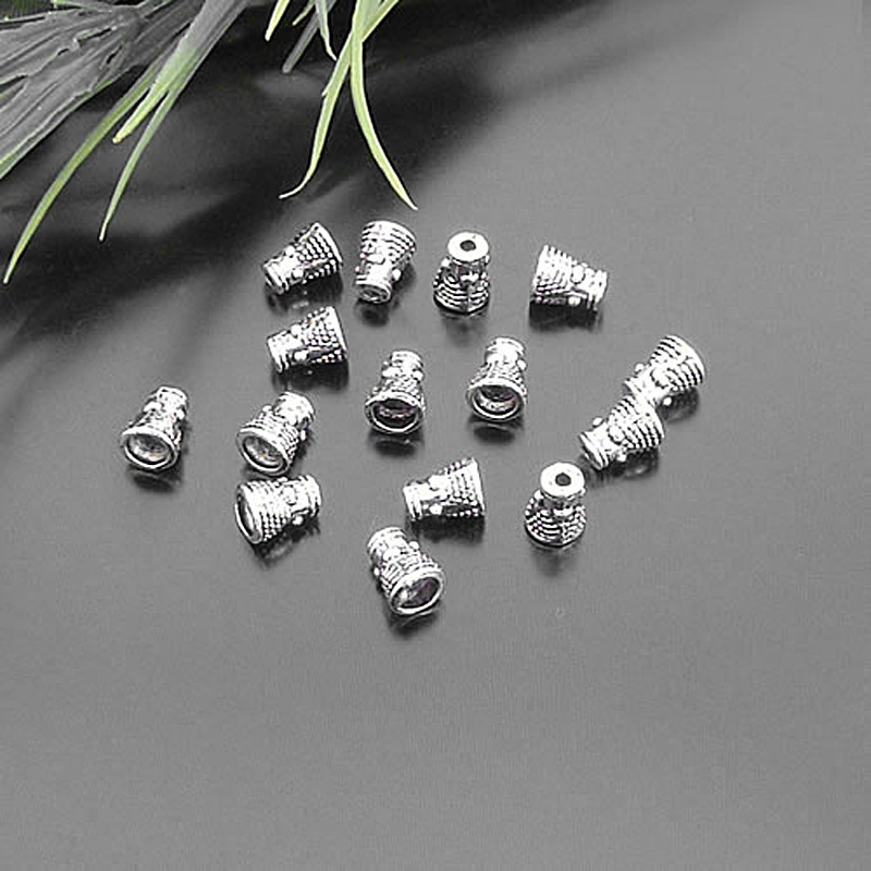 40pcs Antiqued Silver Pearl Mussel Alloy DIY Necklace Pendant Jewelry Findings