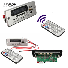 LEORY Wireless MP3 Player Integrated WMA Decoder Board Audio Module USB TF Radio For Car Red Digital LED With Remote controller