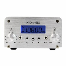 NIORFNIO 1W / 6W PLL FM Transmitter Mini Radio Stereo Station Broadcast with LCD Display Only Host For Radio Y4339D