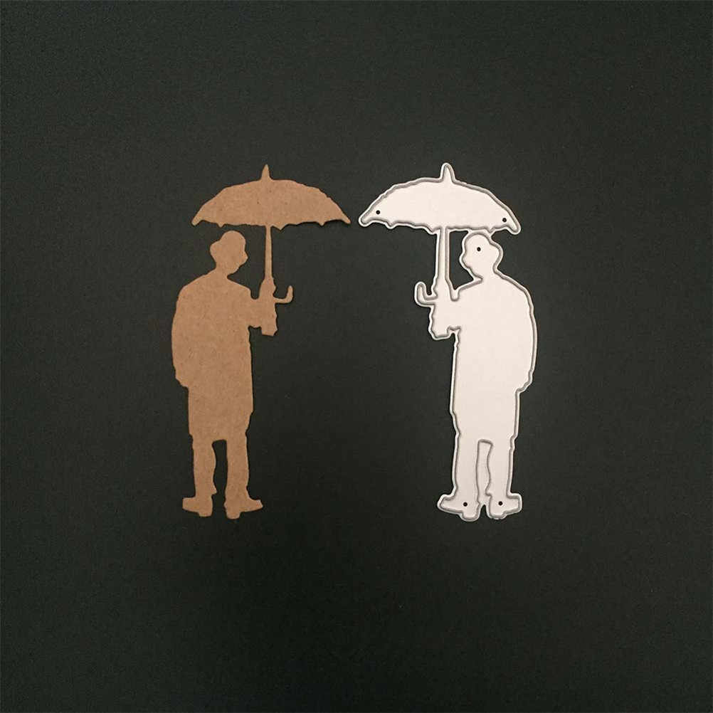 Metal Cutting Die Stencils For Painting Scrapbooking Stamp Album Decorative Embossing Paper Card Template Punch Umbrella Man