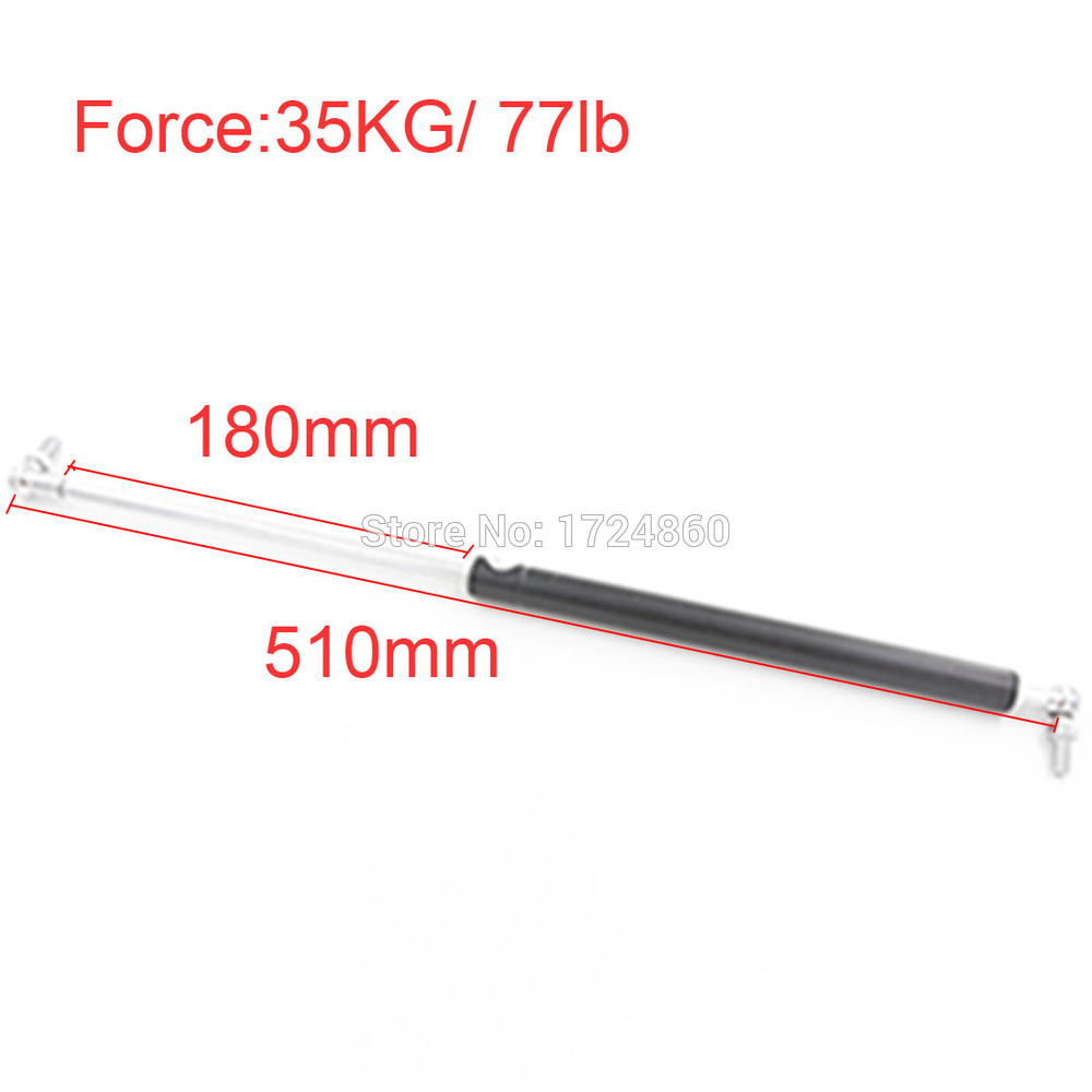 free shipping180mm Stroke 35KG/77lb Force Auto Gas Spring Strut Damper Spring M8 Gas Springs 510mm Gas Strut Shock Lift Prop<br>