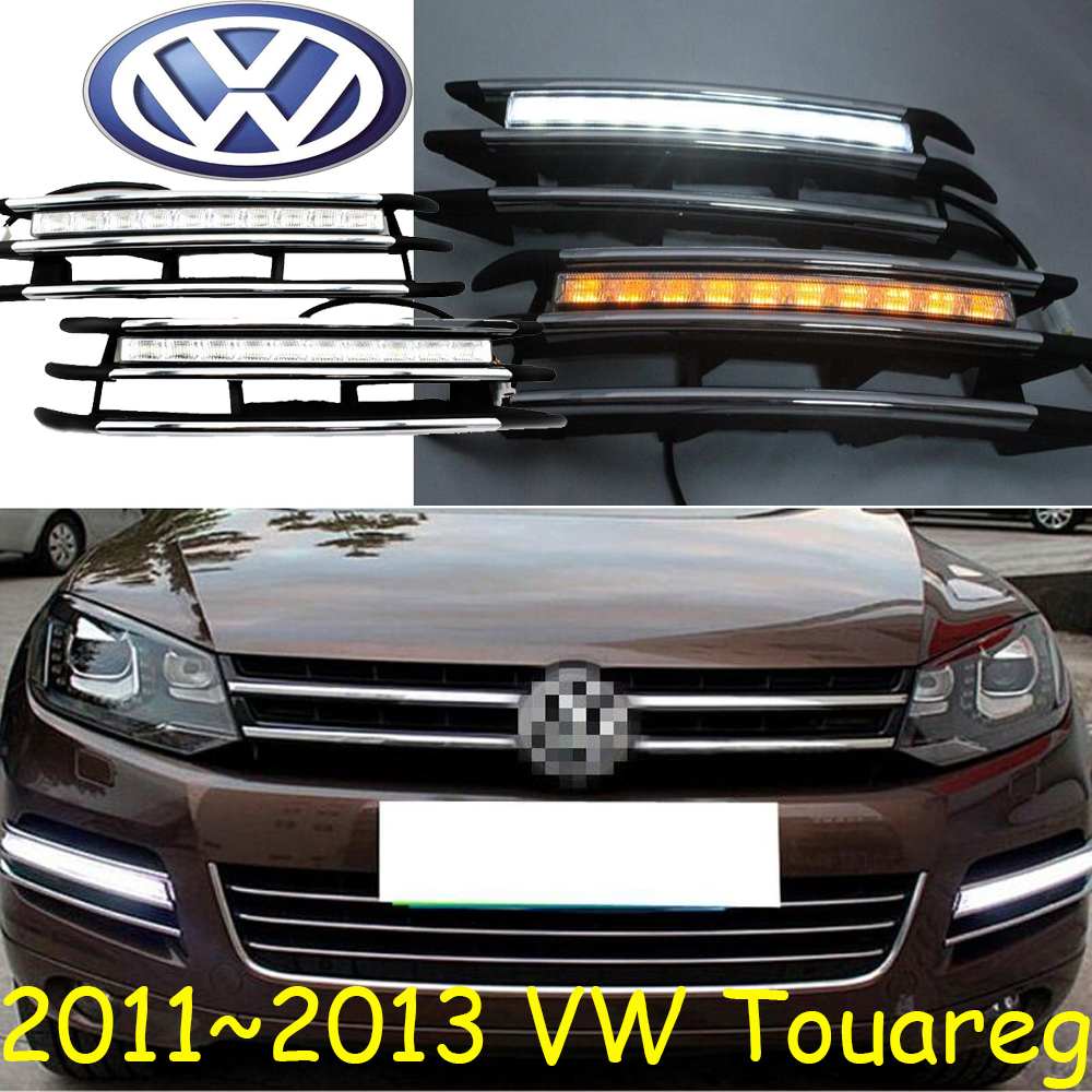 Touareg Daytime light;2011~2013, Free ship!LED,Touareg fog light,sharan,polo,jetta,Transporter,Golf7,Nuevo,Multivan,magotan<br>