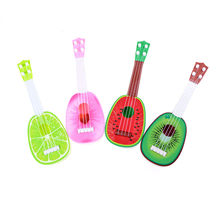 4 Styles Newest Children Kids Creative Cute Mini Fruit Learn Guitar Can Play Musical Instruments Toys Kids Educational Gifts 1PC