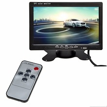 Auto Car TFT LCD Monitor 7 Inch LED Backlight Color Screen Car Rear View DVD VCR for Two ways video input With Remote Control