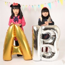Largest size 40 inches Aluminum Foil Balloon Wedding decoration letter balloons children birthday party balloon English letters(China)