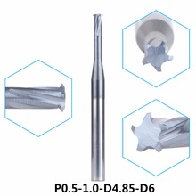 P0.5-1.0-D4.85-D6 tungsten carbide alloy Single teeth metric thread milling cutter threading end mill single tooth cutting tool(China)