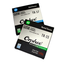Orphee TR Series Imported Clear Nylon Silver Plated Wire Classic Classical Guitar Strings Hard/Normal Tension 028-043/028-045