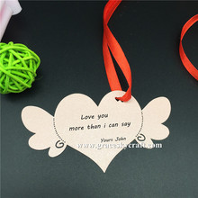 50Ppcs NEW free shipping Laser Cut Name Place Paper Card Hang Tag Name Card Wedding Favors Party Decoration Love Heart Book Mark(China)