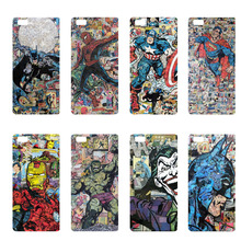 Supperman Hulk Batman Spiderman Captain America Hard PC Cases For Huawei Ascend P7 P8 P9 Lite P9 Plus Hulk Phone Back Covers