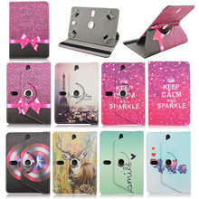 360 Rotating Leather Case For Sanei novo7 rainbow/note 7 flame For Asus Memo Pad HD 7 Me173x 7inch Universal Tablet Cover M4A92D